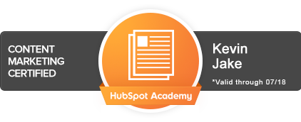HubSpot Certified Content Marketing Professional